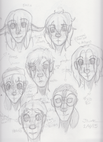 OC Head Sketches 1